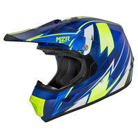 M2R XYouth Thunder PC-2 Blue Kids Helmet