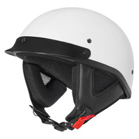 M2R ATV Open Face Helmet Gloss White