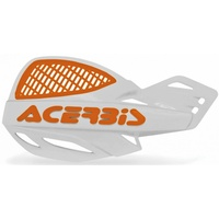 ACERBIS HANDGUARDS UNIKO VENTED WHITE ORANGE
