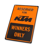 Genuine KTM Metal Parking Plate Sign Motorcycle 3PW1871800