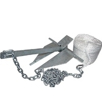Boat Anchor Sand Anchor Kit 10lb With Rope and Chain